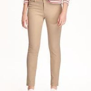 Old Navy Mid Rise Full Length Pixie Pant in Tan